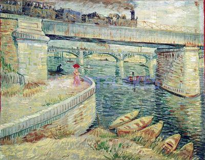 Show Asnières'de Seine Üzerinde Köprü, 1887, Tuval üzerine yağlıboya, 53.5 x 67 cm, Foundation E.G. Bührle Collection, Zurich, İsviçre. details
