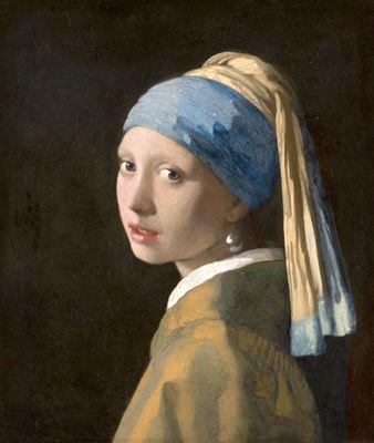 Show İnci Küpeli Kız, 1665 dolayları, Tuval üzerine yağlıboya, 44.5 x 39 cm, Mauritshuis, The Hague, Hollanda. details