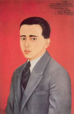 Show Alejandro Gómez Arias'ın Portresi, 1928, Ahşap üzerine yağlıboya, 61.5 x 41 cm, Özel koleksiyon. details