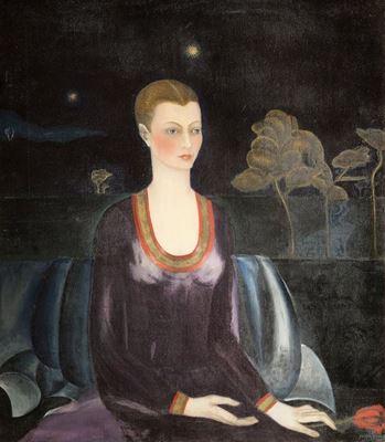 Show Alicia Galant'ın Portresi, 1927, Tuval üzerine yağlıboya, 93.5 x 108 cm, Museo Dolores Olmedo, Mexico City, Meksika. details