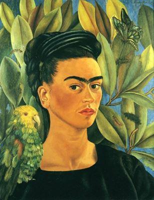 Show Bonito'yla Birlikte Otoportre, 1941, Tuval üzerine yağlıboya, Özel koleksiyon. details