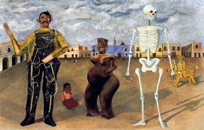 Show Dört Meksika Sakini, 1938, Metal üzerine yağlıboya, Özel koleksiyon. details