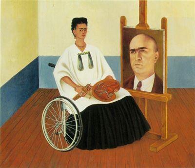 Show Dr. Farill'in Portresiyle Birlikte Otoportre, 1951, Masonit üzerine yağlıboya, 41.5 x 50 cm, Galería Arvil, Mexico City, Meksika. details