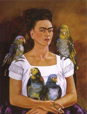 Show Ben ve Papağanlarım, 1941, Tuval üzerine yağlıboya, Özel koleksion. details