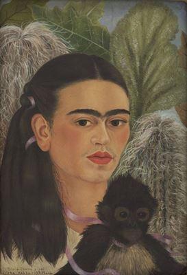 Show Fulang-Chang ve Ben, 1937, Masonit üzerine yağlıboya, 39.9 x 27.9 cm, Museum of Modern Art, New York, ABD. details