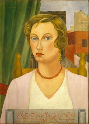 Show Bayan Jean Wight'ın Portresi, 1931, Tuval üzerine yağlıboya, 63.5 x 46 cm, Collection of Mr. and Mrs. John Berggruen, San Francisco. details
