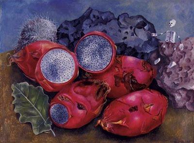 Show Kaktüs Meyveleri, 1938, Metal üzerine yağlıboya, 25.4 x 35.6 cm, Madison Museum of Contemporary Art, Madison, ABD. details