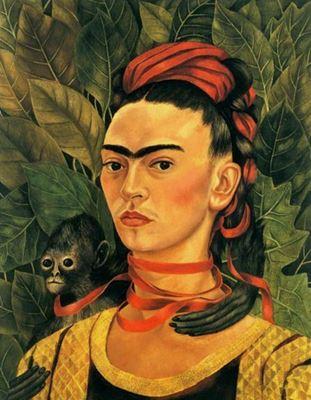 Show Maymunlu Otoportre, 1940, Masonit üzerine yağlıboya, Özel koleksiyon. details
