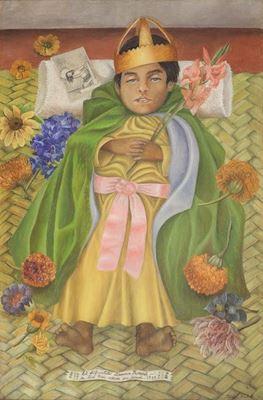 Show Merhum Dimas, 1937, Masonit üzerine yağlıboya, 48 x 31 cm, Museo Dolores Olmedo, Mexico City, Meksika. details