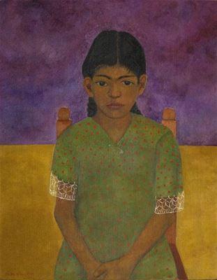 Show Nina, 1929, Masonit üzerine yağlıboya, 84 x 68 cm, Museo Dolores Olmedo, Mexico City, Meksika. details