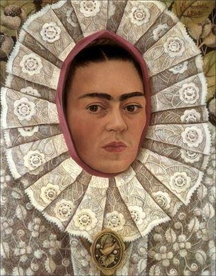 Show Otoportre, 1948, Masonit üzerine yağlıboya, 50 x 39.5 cm,  Collection of Dr. Samuel Fastlicht, Mexico City, Meksia. details
