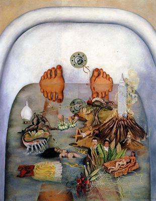 Show Suyun Bana Verdiği, 1938, Tuval üzerine yağlıboya, 91 x 70.5 cm, Collection of Daniel Filipacchi, Paris, Fransa. details