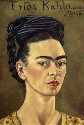 Show Otoportre, 1941, Tuval üzerine yağlıboya, 37.8 x 26.9 cm, Jacques and Natasha Gelman Collection, Mexico City, Meksika. details