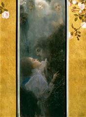 Show Aşk, 1895, Tuval üzerine yağlıboya, 62.5 x 46.5 cm, Wien Museum, Vienna, Avusturya. details